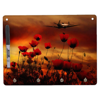 Spitfire Flypast Dry Erase Board With Keychain Holder