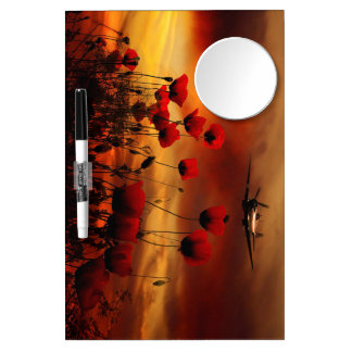 Spitfire Flypast Dry Erase Board With Mirror