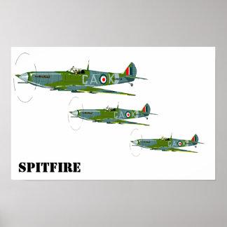 Spitfire Formation Poster
