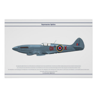 Spitfire GB 2 Sqn 1 Poster