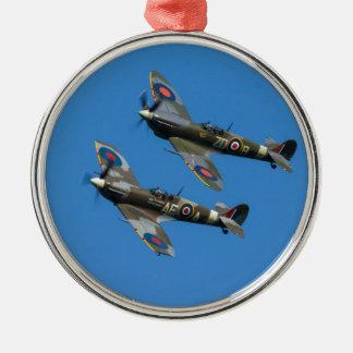 Spitfire Metal Ornament