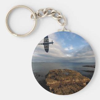 Spitfire Mk19 Basic Round Button Keychain