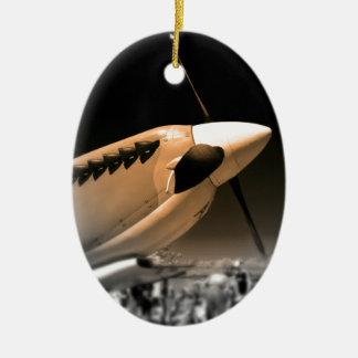 Spitfire Mk 1A aircraft Ceramic Ornament