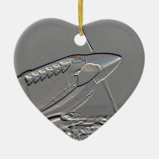 Spitfire Mk 1A aircraft embossed Ceramic Ornament