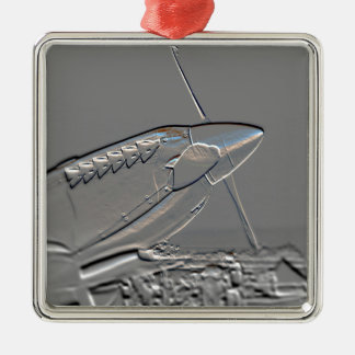 Spitfire Mk 1A aircraft embossed Metal Ornament