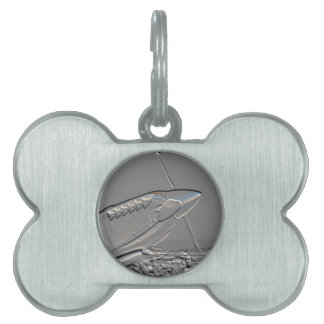 Spitfire Mk 1A aircraft embossed Pet Tag
