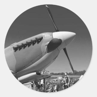 Spitfire Mk 1A Round Sticker