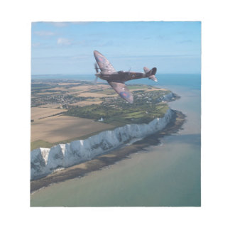Spitfire over the English coast. Notepad