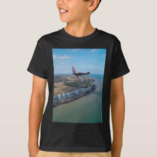 Spitfire over the English coast. T-Shirt