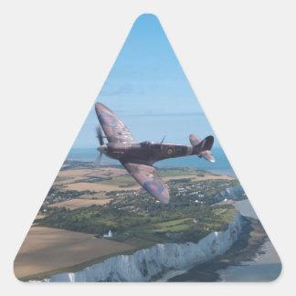 Spitfire over the English coast. Triangle Sticker