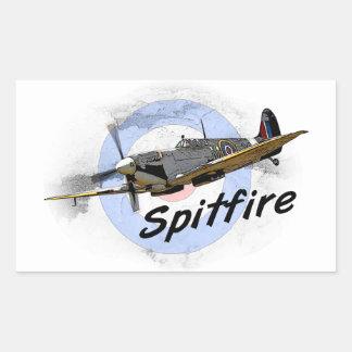 Spitfire Pegatina Rectangular