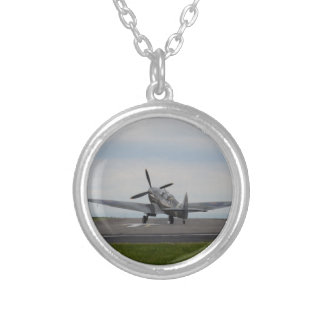 Spitfire Ready For Takeoff Silver Plated Necklace