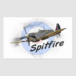 spitfire gifts. spitfire rectangular sticker gifts n