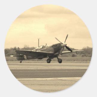Spitfire Sepiatone Classic Round Sticker