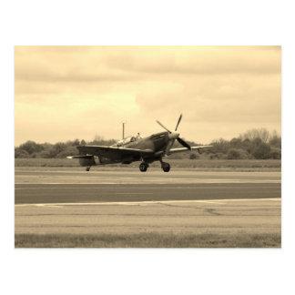Spitfire Sepiatone Postcard