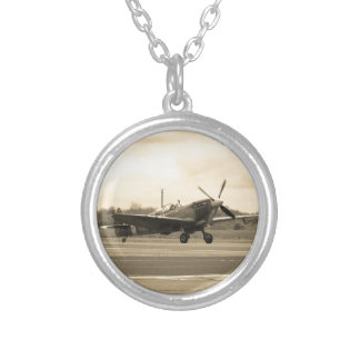 Spitfire Sepiatone Silver Plated Necklace