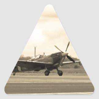 Spitfire Sepiatone Triangle Sticker