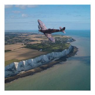 Spitfire sobre Inglaterra Perfect Poster
