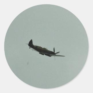 Spitfire Trainer Classic Round Sticker