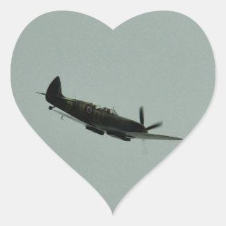 Spitfire Trainer Heart Sticker