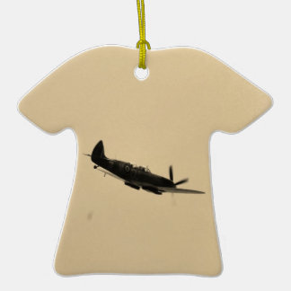 Spitfire Trainer In Flight Double-Sided T-Shirt Ceramic Christmas Ornament