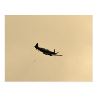 Spitfire Trainer In Flight Postcard
