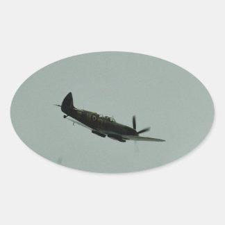 Spitfire Trainer Oval Sticker