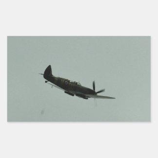Spitfire Trainer Rectangular Sticker