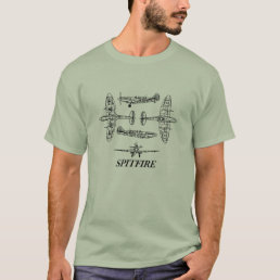 Spitfire Vintage plane Airforce History Military T-Shirt