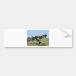Spitfire WW2 Fighter Bumper Sticker