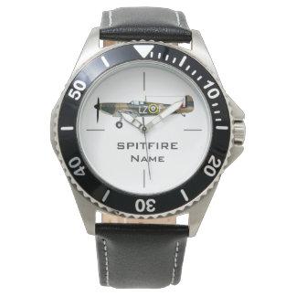 SPITFIRE | WWII aircraft illustration Wrist Watch