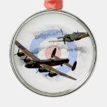 Spitfire y Lancaster Adorno Navideño Redondo De Metal