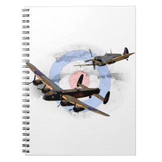 Spitfire y Lancaster Libreta Espiral