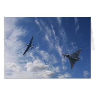 Spitfire y tifón tarjeta de felicitación
