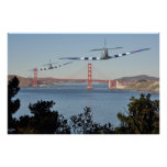 Spitfire's and Golden Gate Bridge Posters