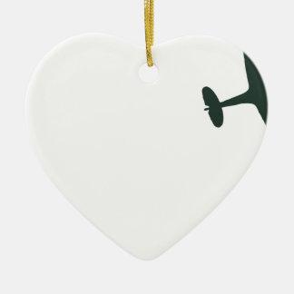 Spitfires de Supermarine Adorno Navideño De Cerámica En Forma De Corazón