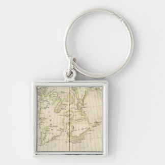 Spitsbergen, Norway Map Keychain