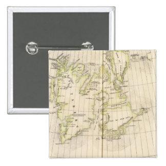 Spitsbergen, Norway Map Pinback Button