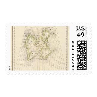 Spitsbergen, Norway Map Postage Stamp