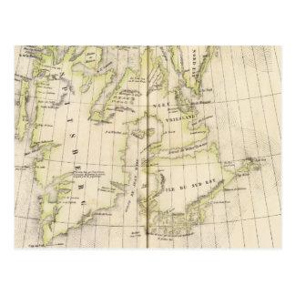 Spitsbergen, Norway Map Postcard