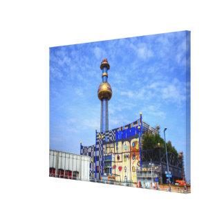 Spittelau waste incineration plant canvas print