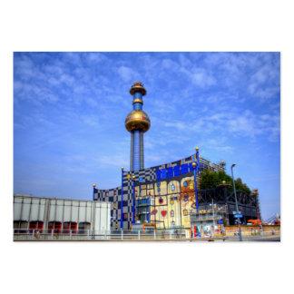 Spittelau waste incineration plant large business card