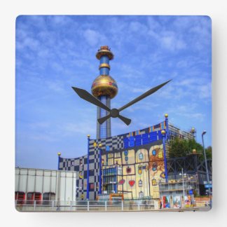 Spittelau waste incineration plant square wall clock