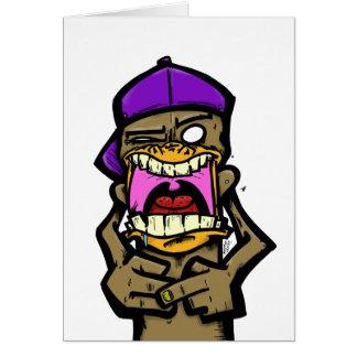Spittin Monkey Card