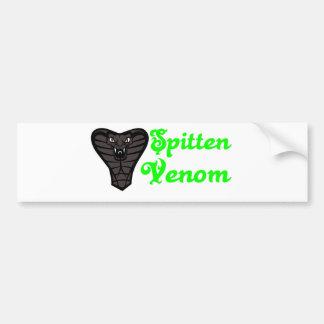 Spittin Venom In A Light Green Font Bumper Sticker