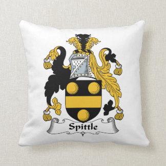 Spittle Family Crest Throw Pillow