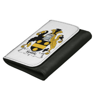 Spittle Family Crest Leather Wallet For Women