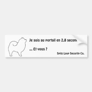 Spitz Loup Security Co - autocollant extérieur Adhésif Pour Voiture