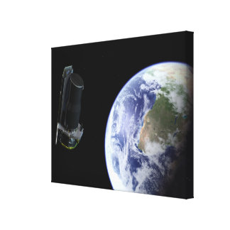 Spitzer departing the Earth soon after launch Canvas Print