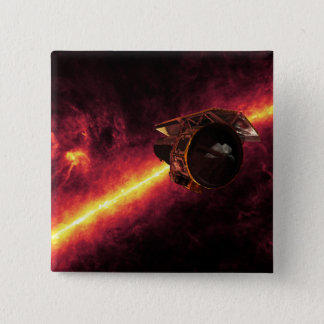 Spitzer seen against the infrared sky 2 pinback button